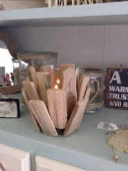 Gisela Graham Driftwood Candle Holder